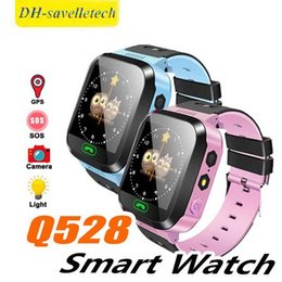 $enCountryForm.capitalKeyWord Australia - Q528 Smart Watch for Children Smart Bracelet LBS Tracker SOS with Light Anti Lost Wristband with SIM Card Camera for IOS Android in Box
