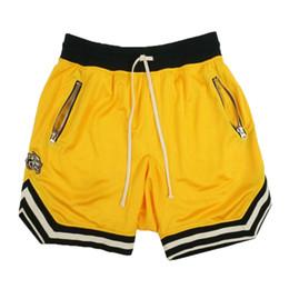Fitness Shorts Hommes Cordon Mince Respirant Maille Court Cinquième Pantalon Pantalon De Sport D'été Fitness Gym Hommes Sportswear en Solde