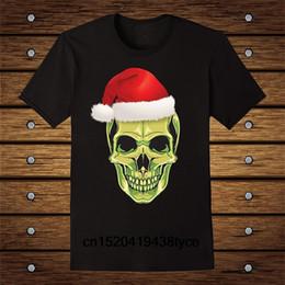 $enCountryForm.capitalKeyWord Australia - Skeleton Skull Santa Hat Goth Mashup T Shirt