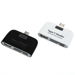 Discount micros tablet USB Hub Type-C 4 in 1 Memory Card Reader Adapter USB Micro USB TF SD Card Type C Hub OTG For Macbook Tablet
