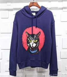 L Hats Australia - 2019 Release Fashion Man And Women Luxury Hoodie GG Quality Hoodies Everything perfect Cat head 3D printed hat Size : S-L