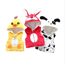 18 month old clothes online shopping - New born clothes baby high quality cotton hooded waistcoat to Month old infant jacket toddler thickening sleeveless coat