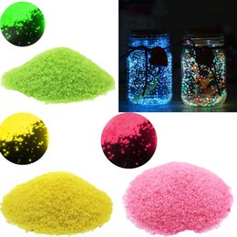 bottle dark Canada - DIY Luminous Sand Glow In Dark Gravel Sand Noctilucent Fish Tank Aquarium Fluorescent Starry Wishing Bottle Party Decorations