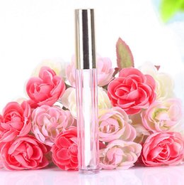 Großhandel 250 stücke 10 ML Mini runde lipgloss rohr kosmetische paket lipgloss flasche leeren behälter mit goldkappe neu