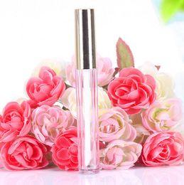 Ingrosso 250pcs 10ML Mini labbro rotonda pacchetto cosmetico tubo gloss gloss bottiglia contenitore vuoto con tappo nuovo oro