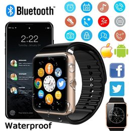 bluetooth smart watch sim Australia - GT08 Smart Watch Bluetooth Smartwatches For Android Smartphones SIM Card Slot NFC Health Watchs for Android with Retail Box