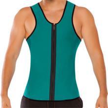 Discount hot shaper abdomen - Mens Neoprene Slimming Vest Hot Gym Power Belt Body Shapewear Running Tank Top Men Abdomen Shaper Shirt Fitness Sports C