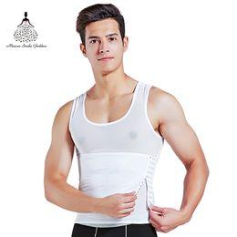 Steampunk Corset Vest Australia - Men Abdominal Binder shaper Corset Body Shaper Men shapewear Vest Steampunk Slimming Belt Corrective Underwear Waist Trainer