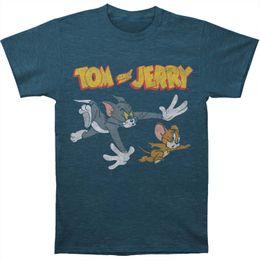530323a5d Descuento al por mayor Camiseta divertida de los hombres Camiseta de la  novedad Tom Jerry Chase camiseta