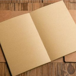 Soft White Paper Australia - Cattlehide,painting,simple,raw white wood-free paper notebooks,Smooth,tawny,Walls Notebook,office supplies,gifts,DIY,