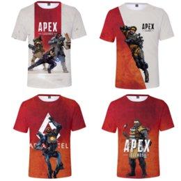 Video games shirts online shopping - Apex Legends Men T shirt Summer T Shirts D Print Video Games Short Sleeve Tees Fitness Tops colors MMA1535