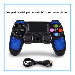 Ps4 Wireless NZ - 2019 Ps4 wireless gamepad controller bluetooth connection compatible with ps4 console PC notebook smartphone gamepad controller DHL