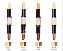Hot NYX Wonder stick highlights e contorni shade stick Light Medium Deep Universal 4 colori Face foundation Makeup Concealer Pen free ship