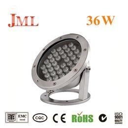 Venta al por mayor de JML Focos 12V 36W impermeables al aire libre IP68 rojo azul blanco blanco cálido luces bajo el agua luces de Navidad