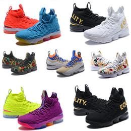 info for 34f01 450d8 2019 neueste Ashes Ghost Floral Lebrons 15 Basketballschuhe Lebron Multi  Color Sneaker 15s Herren Sportschuhe König lbj James us 7-12