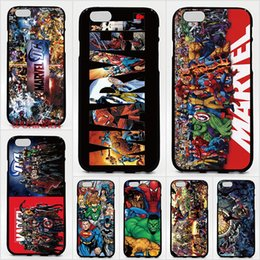Tpu Print Australia - For iPhone XS XR XS Max X 8 7 6 Plus 5S case Hard PC and soft TPU High quality print pictures DC Marvel Super Hero Phone cases 10pcs lot