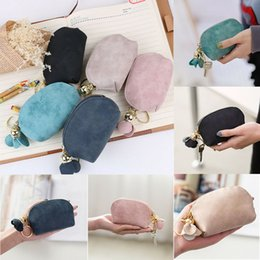 Wholesale Fashion Ladies PU Leather Mini Wallet Card Key Holder Zip Coin Purse Clutch Bag