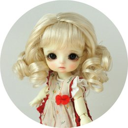 $enCountryForm.capitalKeyWord UK - 5-6inch Eraser Long Curly Wig with Bangs Synthetic Mohair Doll Wigs for 1 8 BJD 3 Colors Available JD038