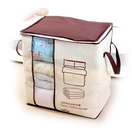 StereoScopic bag online shopping - Clothing Quilt Storage Bag Large Finishing Bags Non Woven Fabric Dustproof Home Little Bear Wardrobe Suspension Stereoscopic Form lfC1