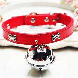 cat collar cute Australia - 10 Styles Pet supplies cat dog collar PU belt big bell diameter colorful 4cm with Bell cute can wear a rope accessories AN2833