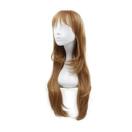 Long Hair Straight UK - Long Straight Blonde Wig Heat Resistant Synthetic Wavy Cosplay Hair Full Wigs