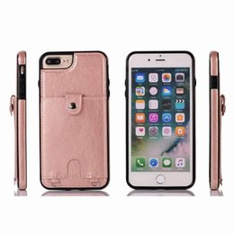 Iphone Credit Australia - For iPhone Xs Max Xr S10 8Plus Wallet Case Luxury PU Leather Cell Phone Back Case Cover with Credit Card Slots for iphone 7 8 6 plus case