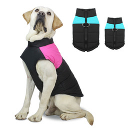 classic closures NZ - Dog Winter Coat Warm Down Jacket Windproof Dog Jackets Puffer Vest Puppy Clothes with Zipper Closure and Leash Ring for Large Medium Small