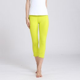 $enCountryForm.capitalKeyWord Australia - Yellow Leggings Sport Fitness Clothing Seamless Leggings High Waist Gym Women Running Yoga Capris Pants Scrunch Legging