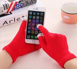 Wholesale Knit Wool Touch Gloves Touch Screen Gloves For Smart Phone Mobile phone Android phone more comfortable Elastic free size