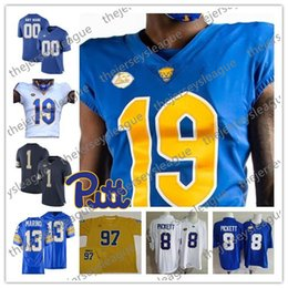 d99925704 2019 Pittsburgh Panthers Pitt Custom Any Name Any Number Navy Blue White  Gold Stitched  3 Hamlin 4 Nick Patti NCAA College Football Jerseys