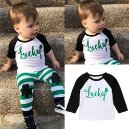 4f87e990 My 1st St.Patrick's Day 1pc Infant Baby Boy Kid Cotton T-Shirt Plain  Four-leaf Clover Long Sleeve Shirt Tee Tops Clothes