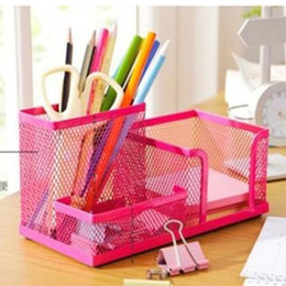 Metal Stationary Australia - Hot Multifunction Metal Desktop Storage Box Organizer Drawer Pen Card Office Stationary Holder Makeup Cosmetic Storage Box