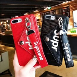 Phone holders for girls online shopping - Fashion Luxury Designer Boutique Phone Case For iPhone X Xr Xs Max plus plys S plus With Hand Rope Girl Stand Card Slot Holder