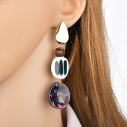 $enCountryForm.capitalKeyWord UK - Trending Style Stud Earrings High Quality Zinc Alloy Gold Color Asymmetric Female Earrings Fashion Jewelry E2371
