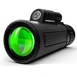 Wholesale PRONITE 12X50 Hunting Monoculars Telescope Single Cylinder Portable Non-night Vision Binoculars High Quality Spyglass Monocle