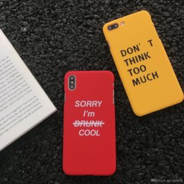 cell phone hard case brands NZ - For Iphone 11 Pro Xs Max Xr Tide Brand English Phone Case 6 7 8 X Plus Frosted PC Hard Cell Phone Cases