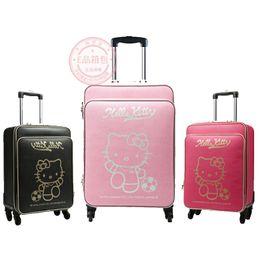 baefc32de Women Suitcases Australia - New Cartoon Hello Kitty 16 20 24 inches girl  students trolley case