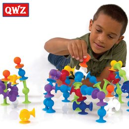 $enCountryForm.capitalKeyWord Australia - Qwz 33-72pcs Diy Silicone Building Blocks Assembled Sucker Suction Cup Funny Construction Toys Children Educational Toys Gifts Y190606