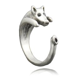 $enCountryForm.capitalKeyWord UK - Hot Sale Vintage Silver Retro Lucky Pig Ring Fashion Jewelry For Women Ladies And Girls Animal Ring Children Unique Kids Gift Wholesale