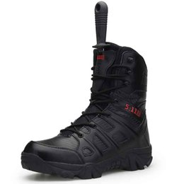 Outdoor Boots Zipper Australia - 2019 new men's Comfortable tactical boots desert combat outdoor army travel sand color black zipper type male wind with freight Non-slip