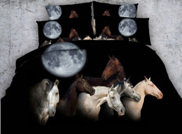 $enCountryForm.capitalKeyWord Australia - Moon Horse Bedding set Luxury 3D quilt duvet cover bed sheet sheets linen California King queen size full twin double 4PCS