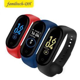 $enCountryForm.capitalKeyWord Australia - New M4 Smart Bracelet Band Wristbands Fitness Tracker Health Heart Rate Monitor Bluetooth Smartwatch Support Life Waterproof PK Mi Band 4