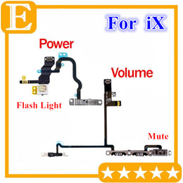 $enCountryForm.capitalKeyWord Australia - Power Volume Switch Button Flex Cable For iPhone X 10 On Off Control + Flash Light + Mic + Mute Connector Flex with Metal Bracket Assembly