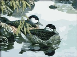 $enCountryForm.capitalKeyWord Canada - 16x20 inches Mandarin Ducks, a Symbol of Chinese Love DIY Paint By Numbers Kits On Canvas Art Acrylic Oil Painting