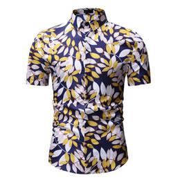 6b700e00ce6fe9 US Herren Baumwolle Floral Formelle Hemden Italienische Kleid Designer  Casual Luxus Hemden Schwarz Blau Weiß Gold Cool Sommer Shirt # 555481