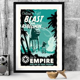 Cartoon Star Picture Australia - Blast the Rebellion Wall Art Star Canvas Wars Posters Prints Painting Wall Pictures For Office Living Room Home Decor Artwork
