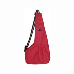 Small packageS online shopping - Pets Dog Bag Letter Printing Outcrop Single Shoulder Wrap Keep Warm Package All Season Carry Red Black jg C1
