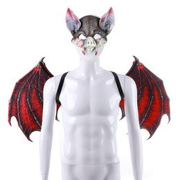Halloween Carnival Adult Party Decorations NZ - Cospty Carnival Party Decoration Suit Masquerade Props Felt Unique Vampire Bat Cosplay Costume Anime Devil Halloween Adult Wings
