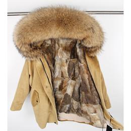 $enCountryForm.capitalKeyWord Australia - winter Natural rabbit fur lining jacket coat Women parka fur coat Corduroy real raccoon collar warm Long parkas