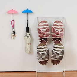 $enCountryForm.capitalKeyWord Australia - Umbrella Shaped Wall Hooks 3pcs Set Dual Key Hanger Rack Holder For Kitchen Room Bathroom Wall Decorative Organizer